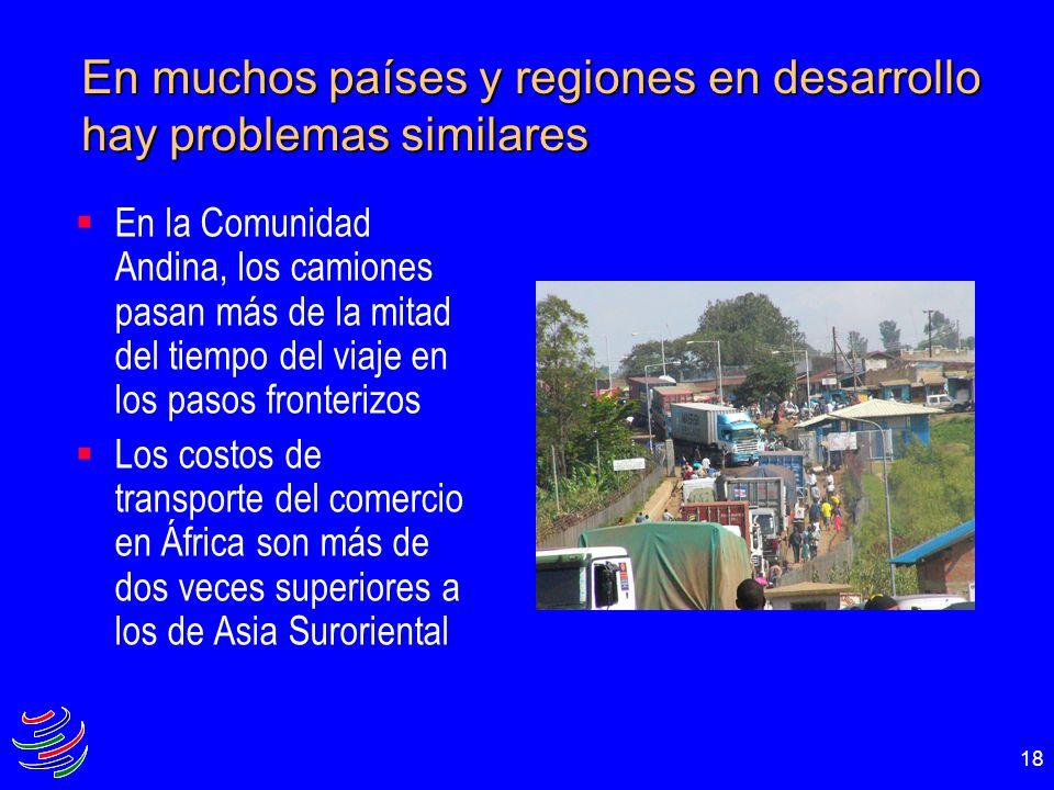 En muchos países y regiones en desarrollo hay problemas similares