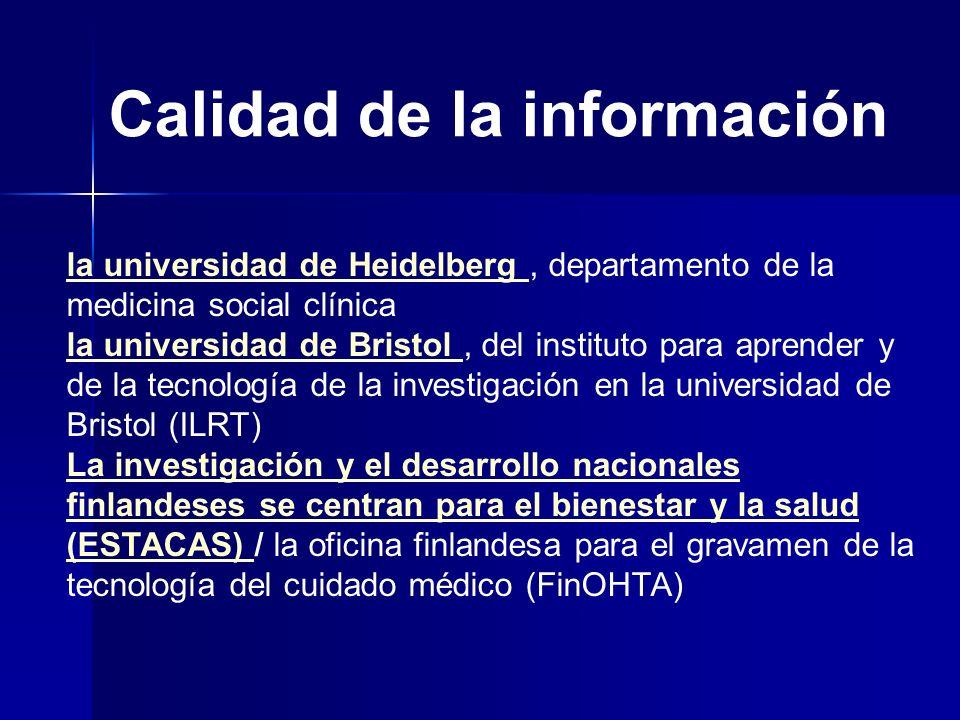 Calidad de la información