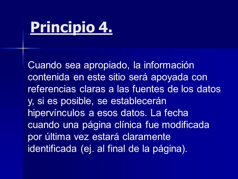 Principio 4.
