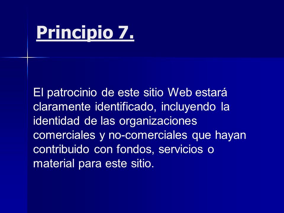 Principio 7.