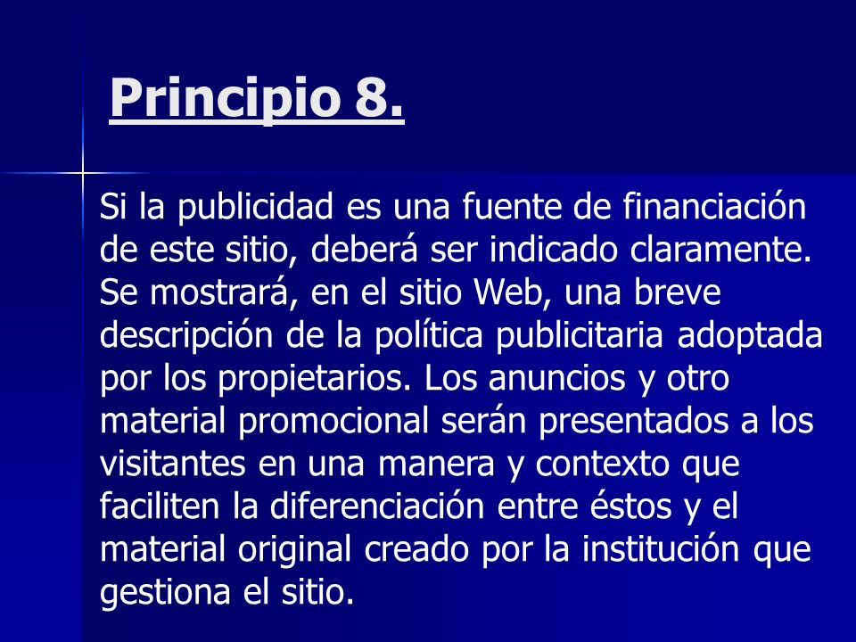 Principio 8.