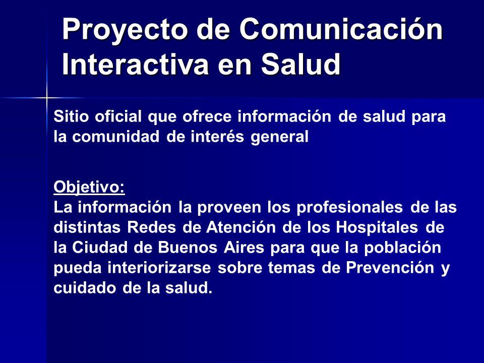 Proyecto de Comunicación Interactiva en Salud