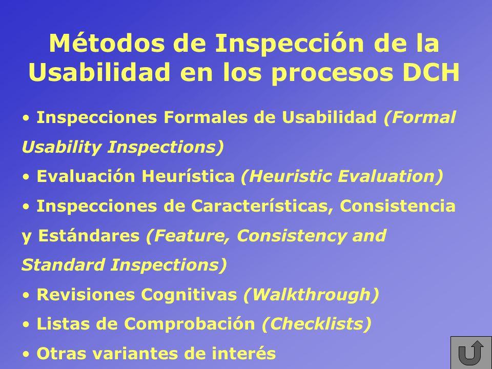 Métodos de Inspección de la Usabilidad en los procesos DCH