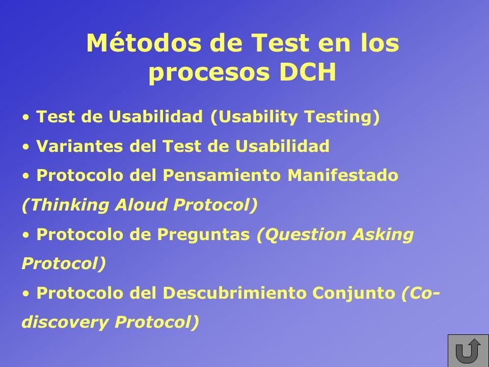 Métodos de Test en los procesos DCH