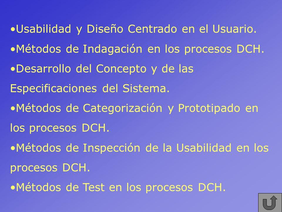 Usabilidad y Diseño Centrado en el Usuario.