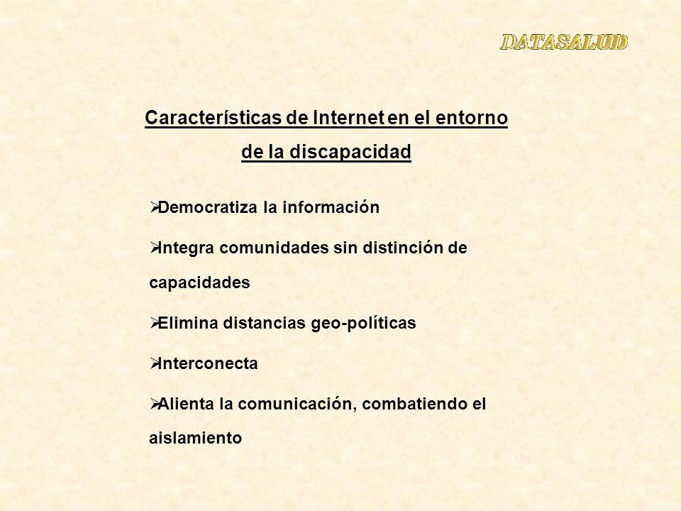 Características de Internet en el entorno