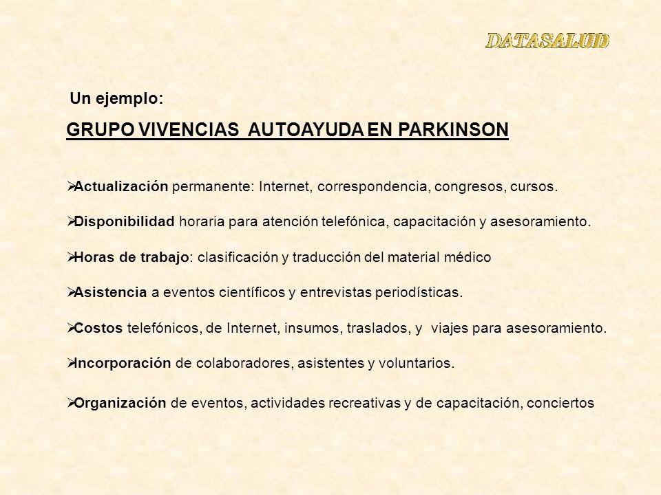 GRUPO VIVENCIAS AUTOAYUDA EN PARKINSON