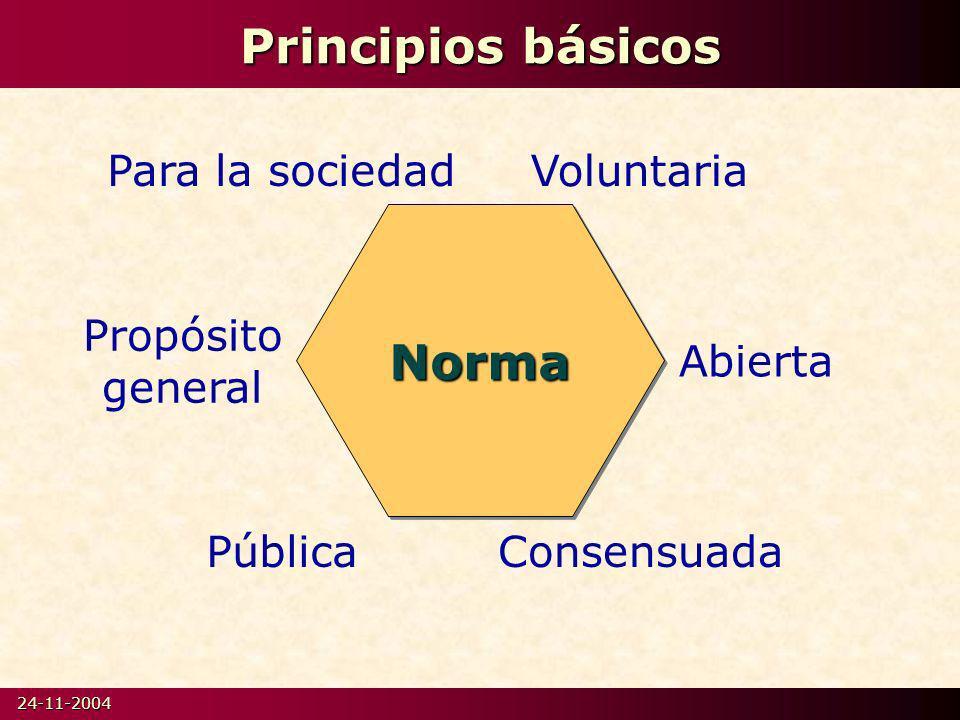 Principios básicos Norma