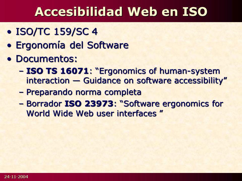 Accesibilidad Web en ISO