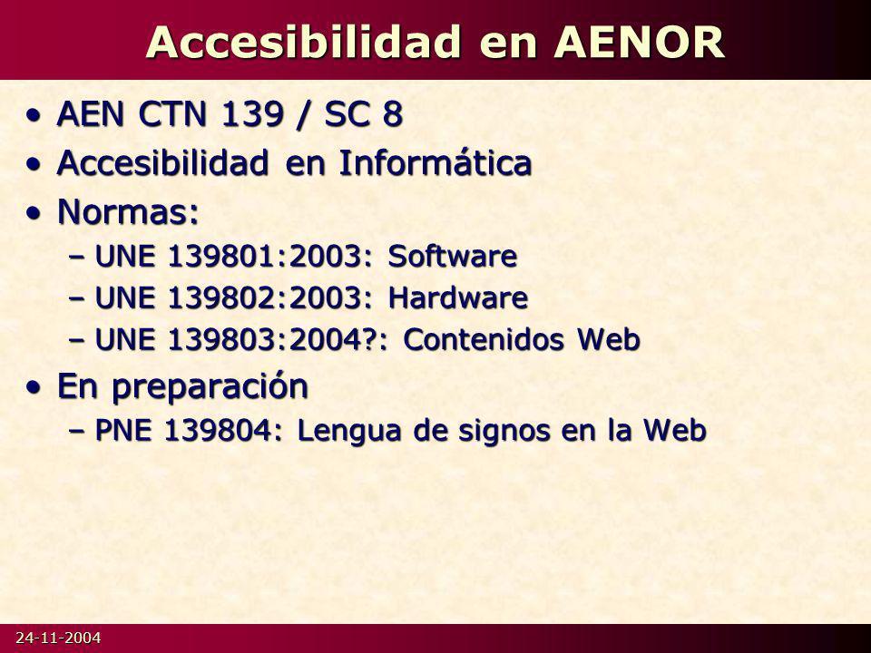 Accesibilidad en AENOR