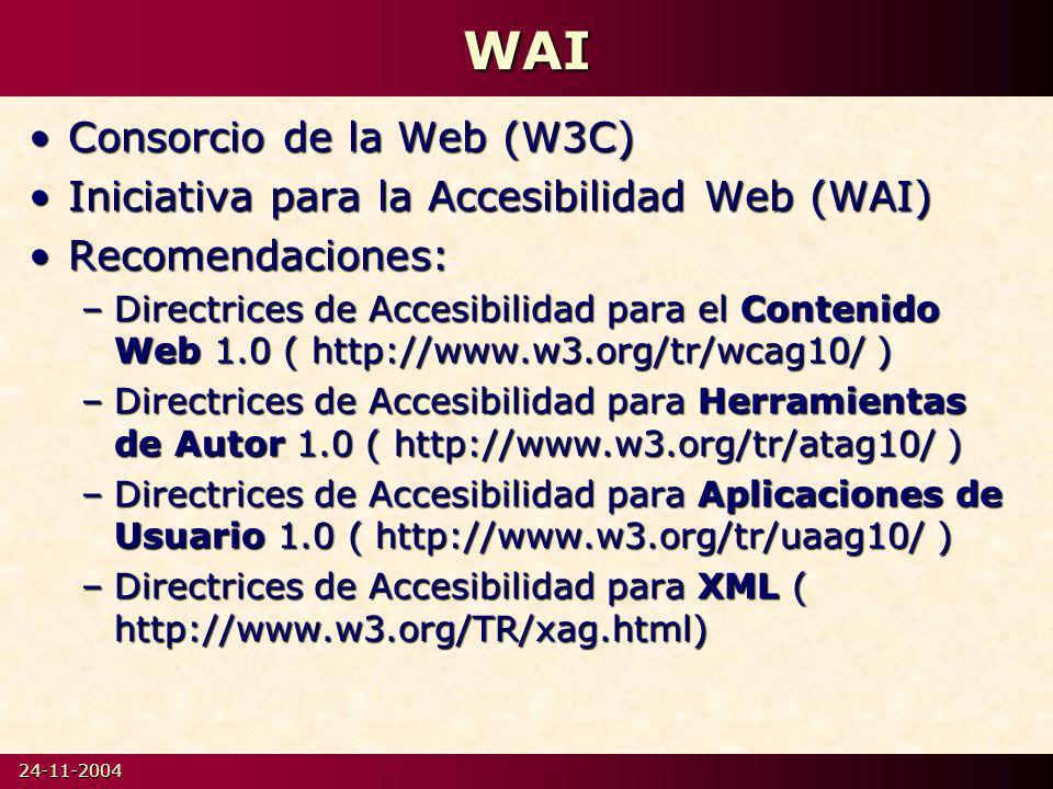 WAI Consorcio de la Web (W3C)