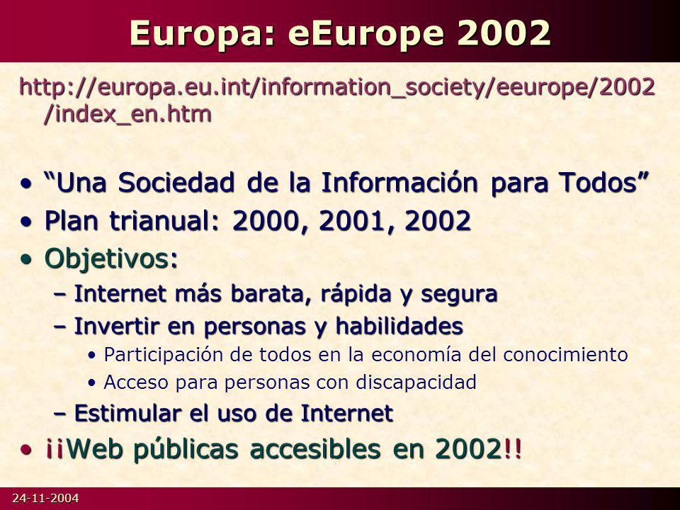 Europa: eEurope 2002 Una Sociedad de la Información para Todos