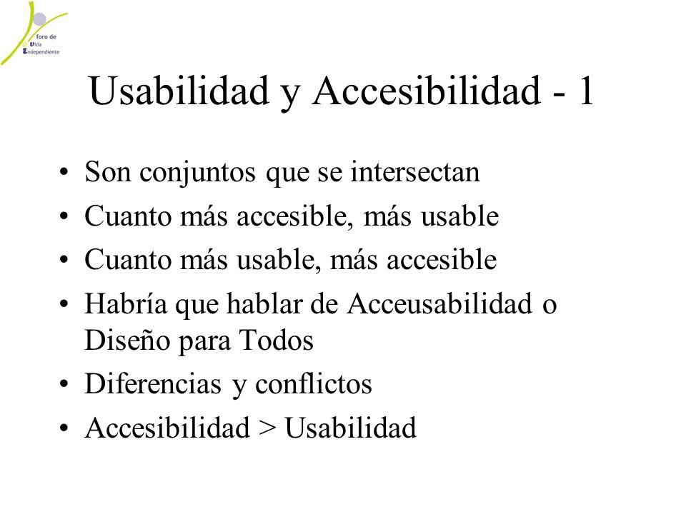 Usabilidad y Accesibilidad - 1