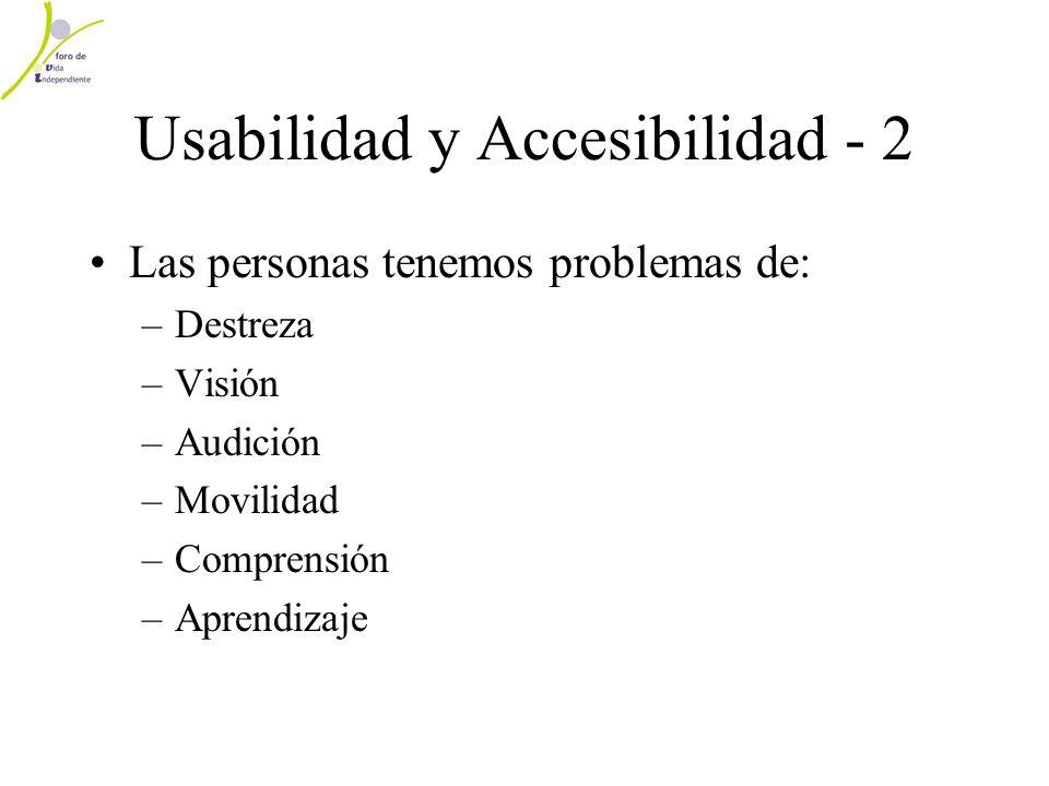 Usabilidad y Accesibilidad - 2