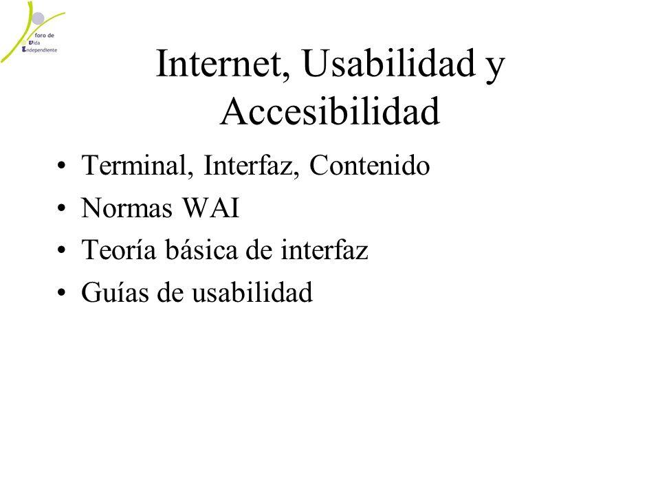 Internet, Usabilidad y Accesibilidad