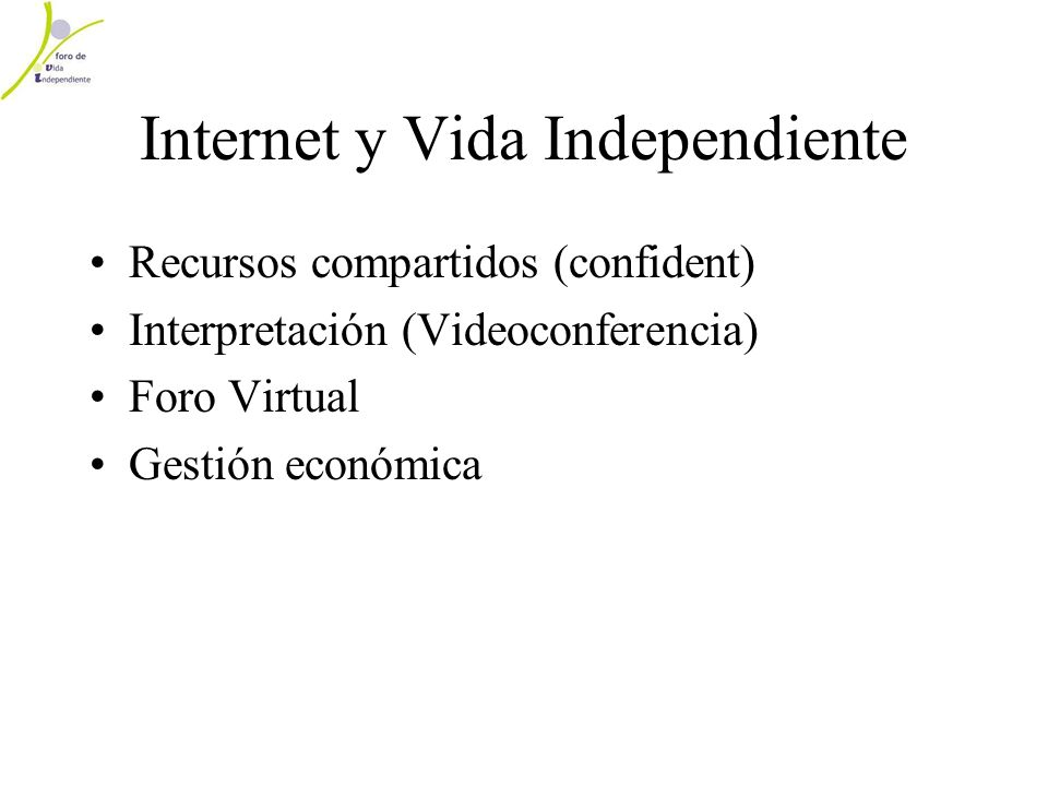 Internet y Vida Independiente