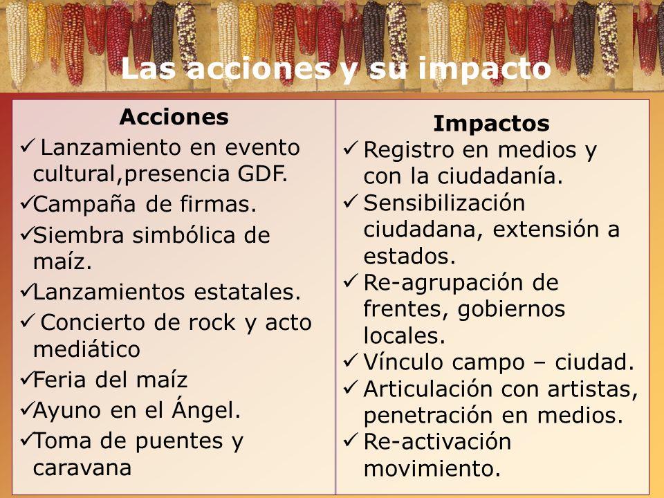 Las acciones y su impacto