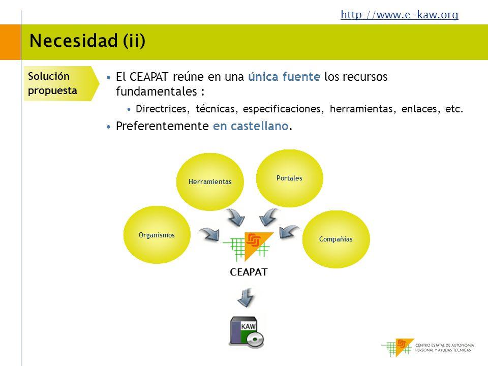 Necesidad (ii) Solución propuesta. El CEAPAT reúne en una única fuente los recursos fundamentales :