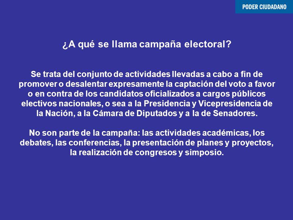 ¿A qué se llama campaña electoral