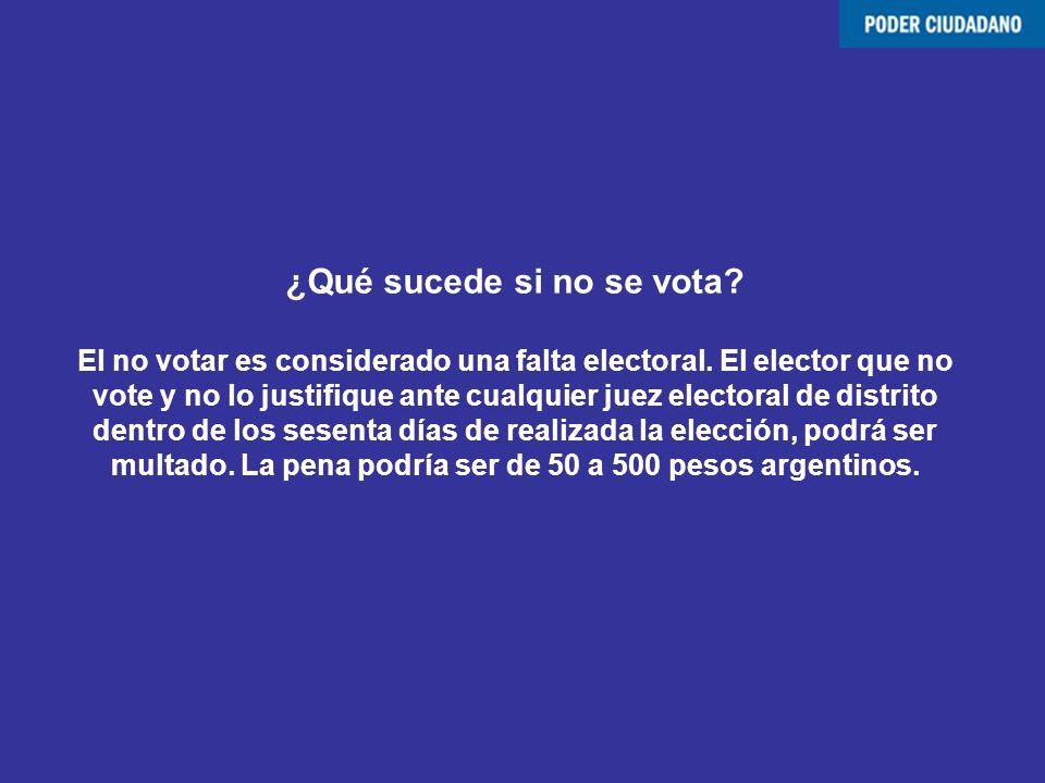 ¿Qué sucede si no se vota