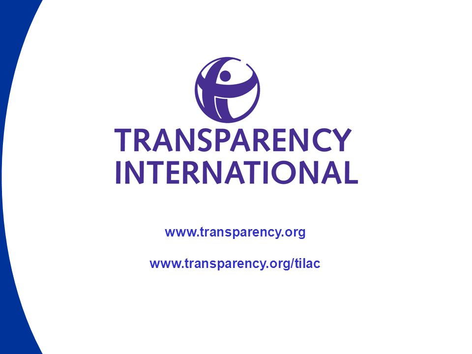 www.transparency.org www.transparency.org/tilac