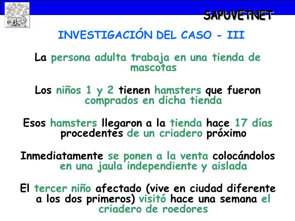 SAPUVETNET INVESTIGACIÓN DEL CASO - III