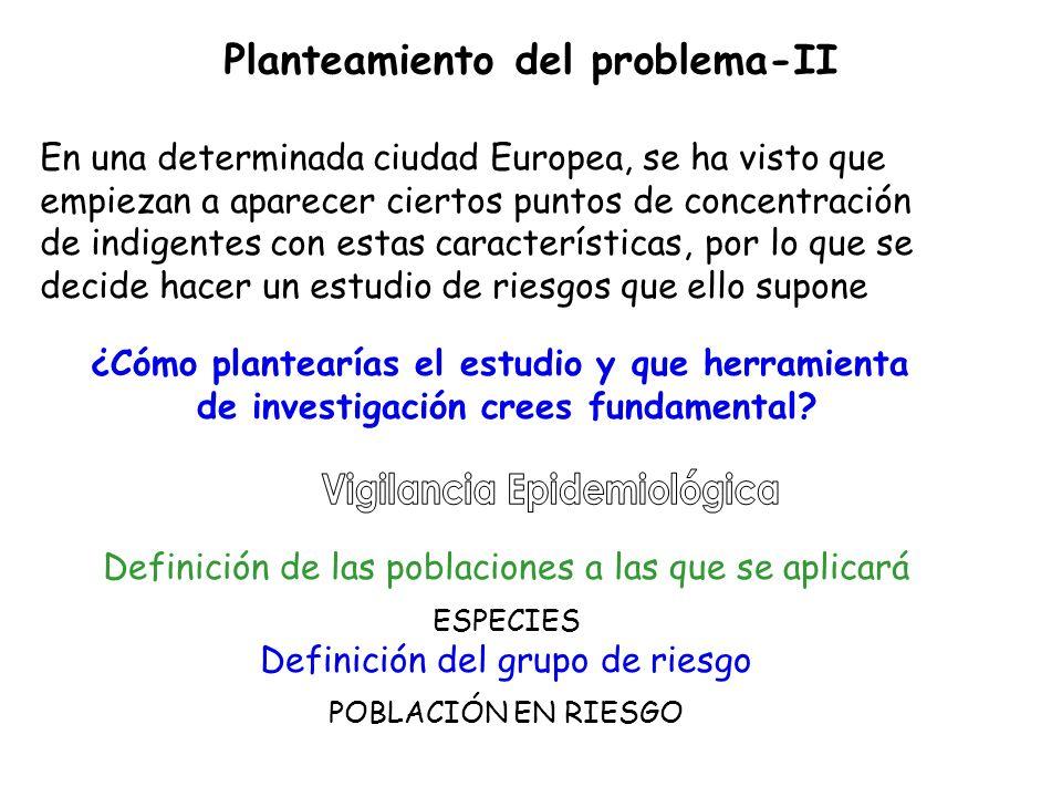 Planteamiento del problema-II