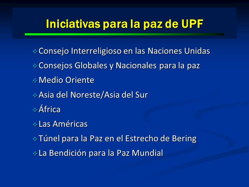 Iniciativas para la paz de UPF