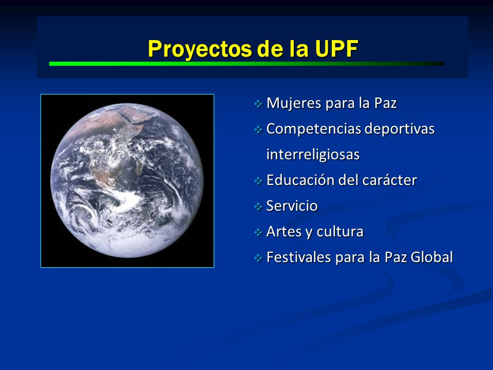 Proyectos de la UPF Mujeres para la Paz
