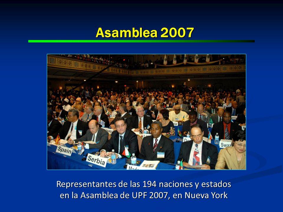 Asamblea 2007 Representantes de las 194 naciones y estados