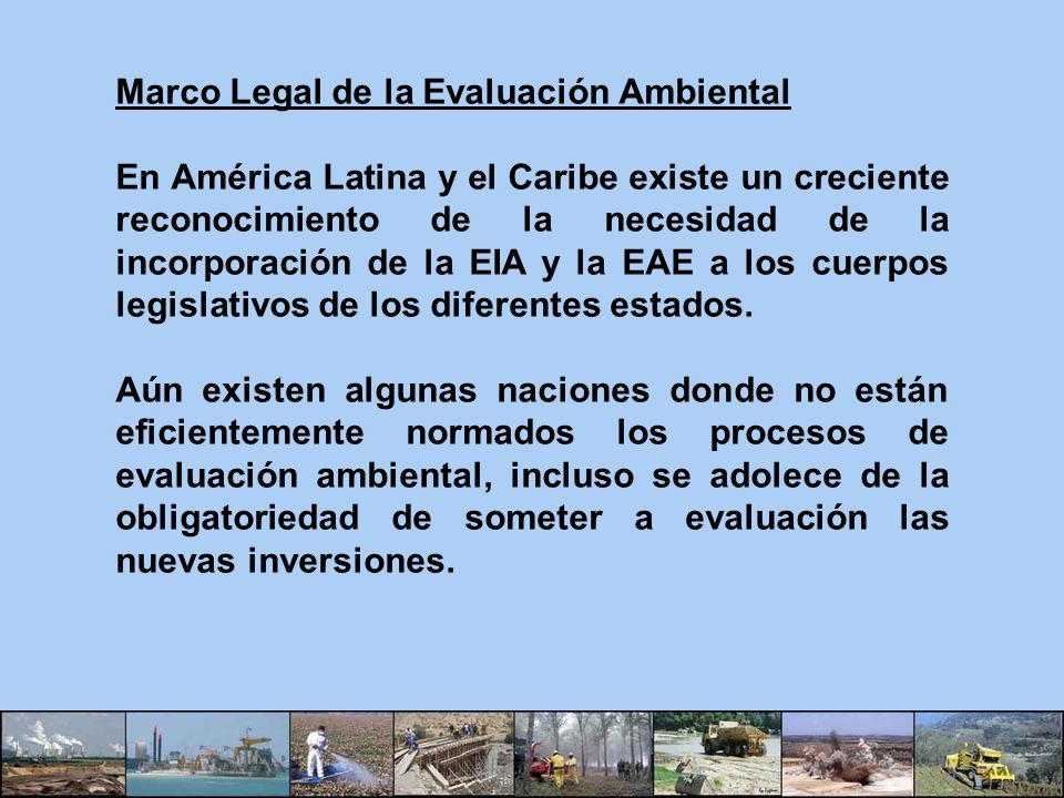 Marco Legal de la Evaluación Ambiental