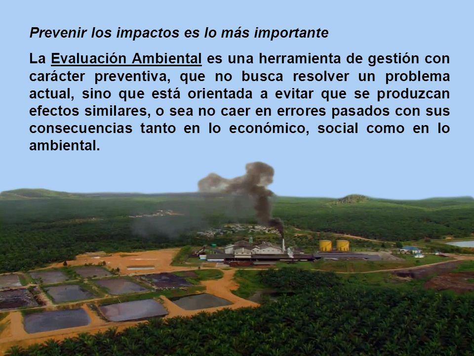 Prevenir los impactos es lo más importante