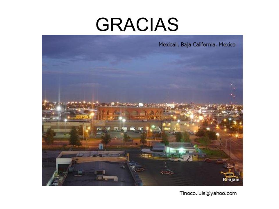 GRACIAS Mexicali, Baja California, México Tinoco.luis@yahoo.com