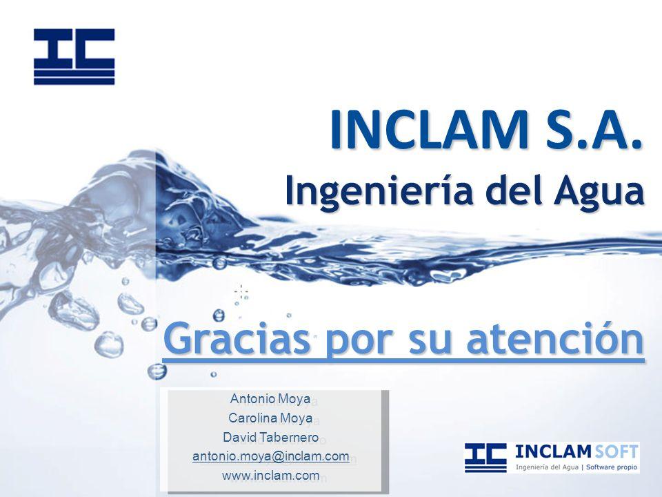 INCLAM S.A. Ingeniería del Agua Gracias por su atención