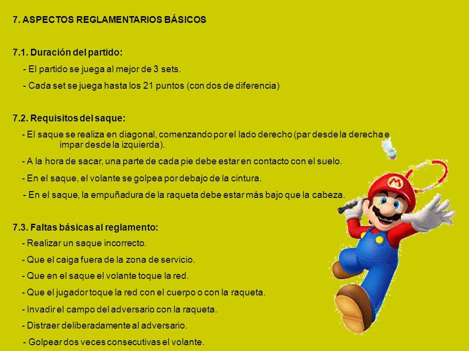 7. ASPECTOS REGLAMENTARIOS BÁSICOS