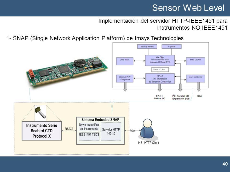 Sensor Web Level Implementación del servidor HTTP-IEEE1451 para instrumentos NO IEEE1451.