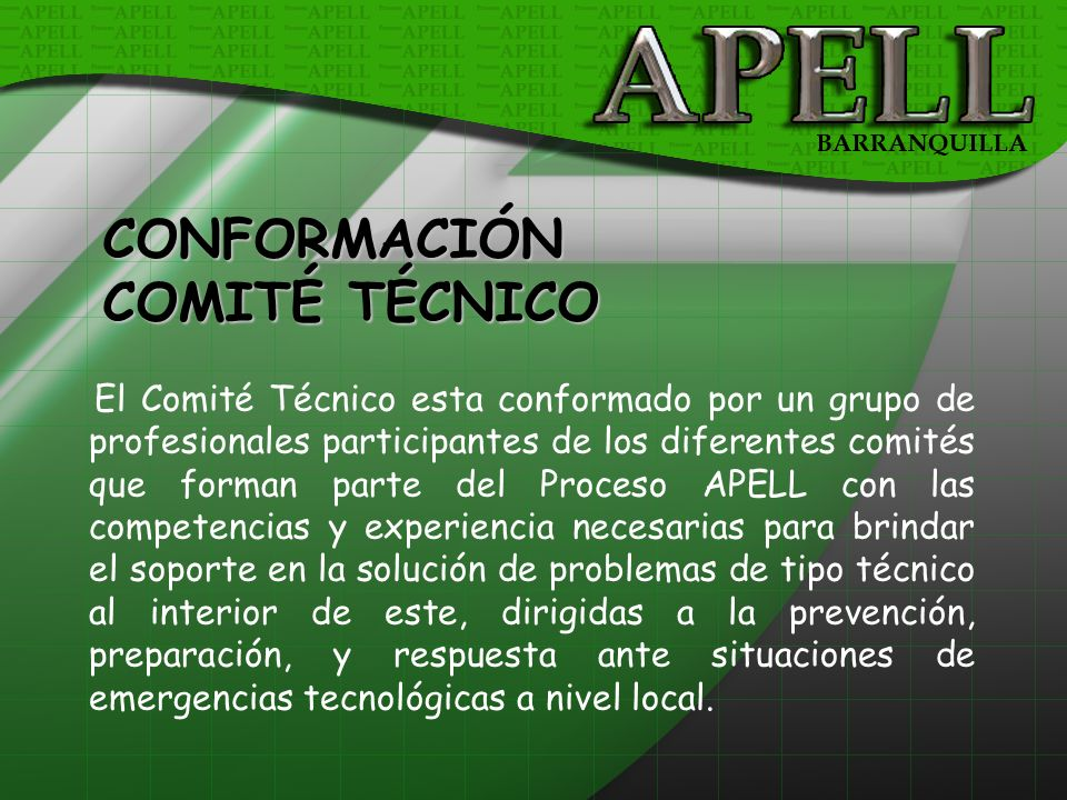 CONFORMACIÓN COMITÉ TÉCNICO