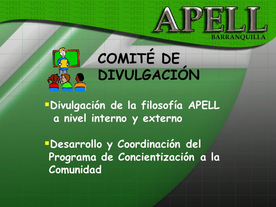 COMITÉ DE DIVULGACIÓN Divulgación de la filosofía APELL