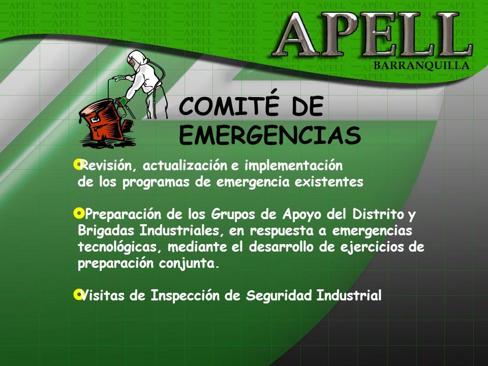 COMITÉ DE EMERGENCIAS Revisión, actualización e implementación