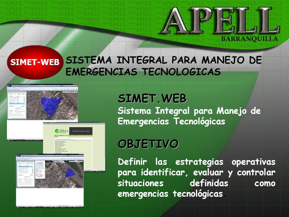 SIMET.WEB OBJETIVO SISTEMA INTEGRAL PARA MANEJO DE
