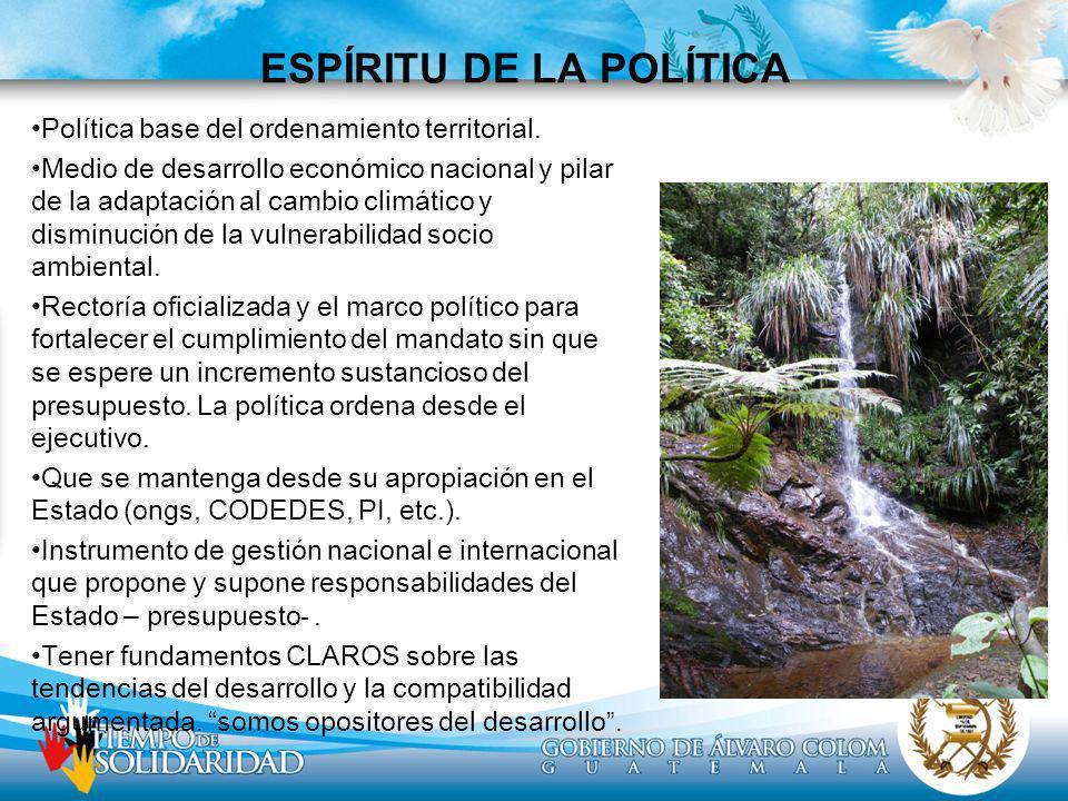 ESPÍRITU DE LA POLÍTICA