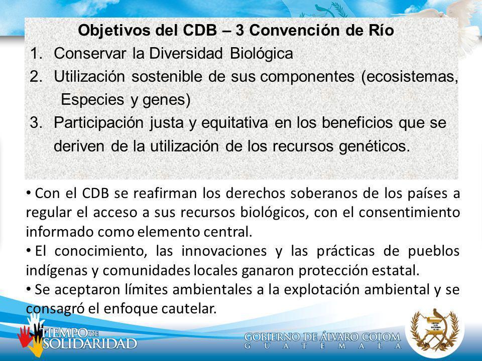 Objetivos del CDB – 3 Convención de Río
