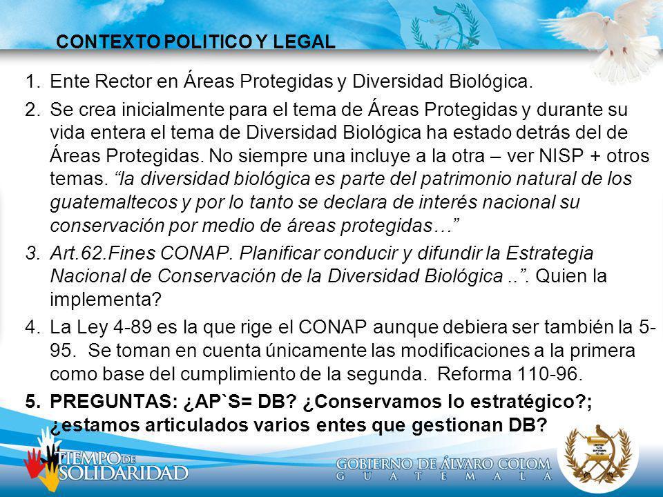 CONTEXTO POLITICO Y LEGAL