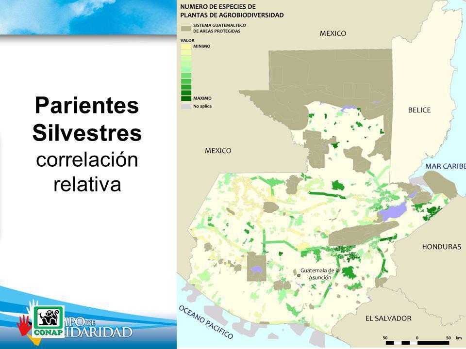 Parientes Silvestres correlación relativa