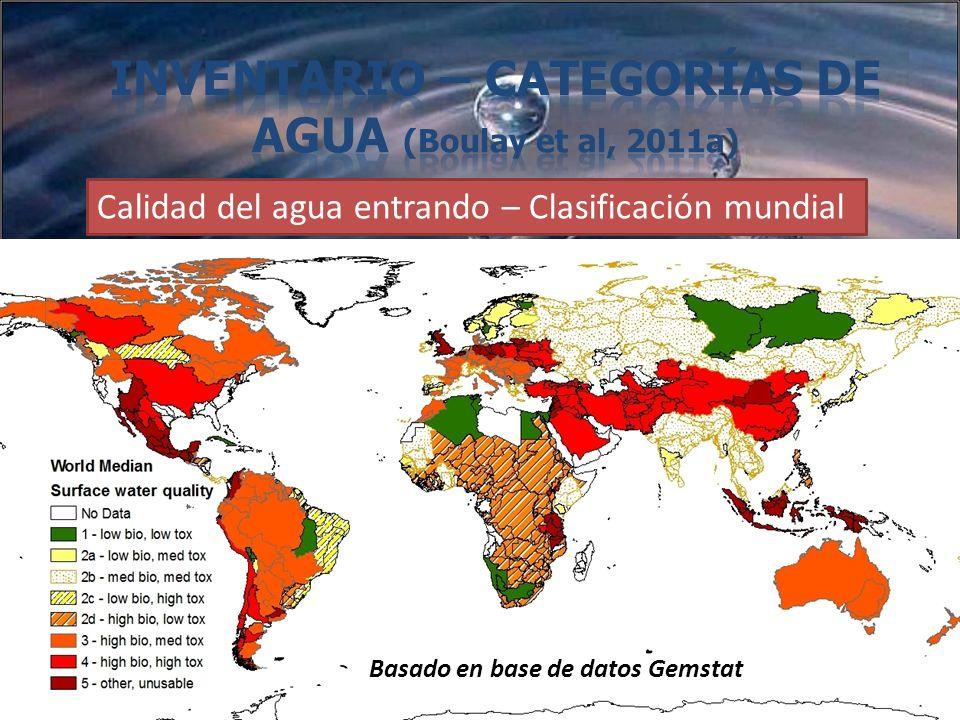 Inventario – Categorías de agua (Boulay et al, 2011a)