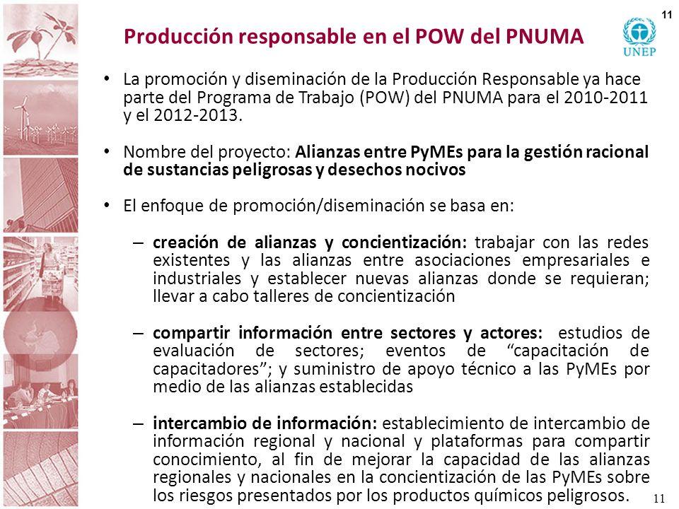 Producción responsable en el POW del PNUMA