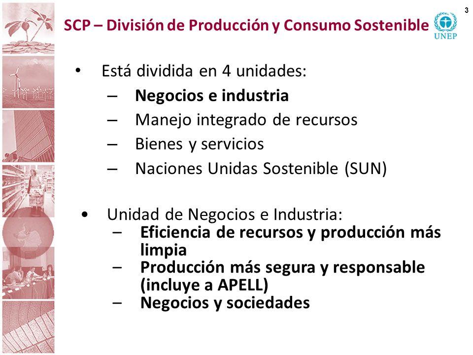 SCP – División de Producción y Consumo Sostenible