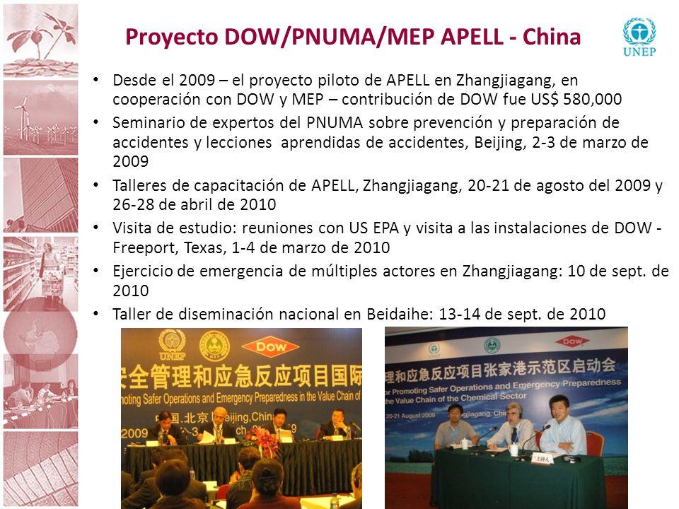 Proyecto DOW/PNUMA/MEP APELL - China
