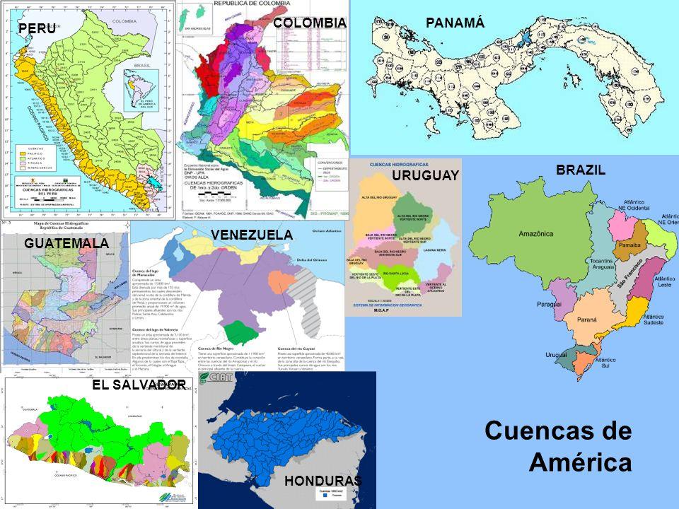 Cuencas de América COLOMBIA PANAMÁ PERU BRAZIL URUGUAY VENEZUELA
