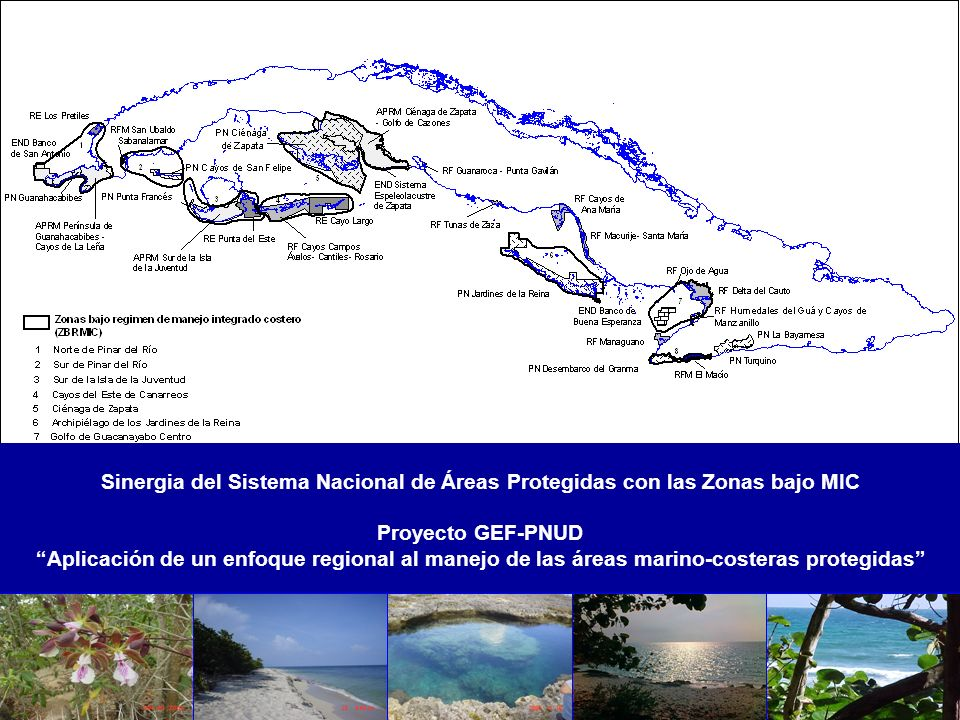 Sinergia del Sistema Nacional de Áreas Protegidas con las Zonas bajo MIC